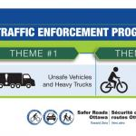 The OPS STEP focusing on unsafe vehicles, heavy trucks, and cycling safety in April