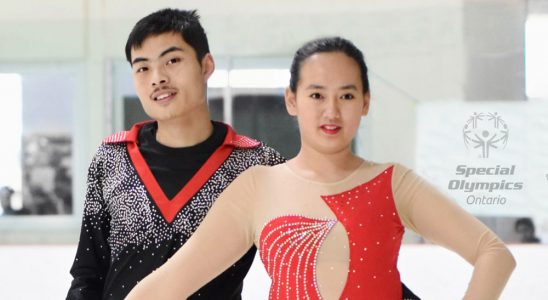 Jack Fan and Katie Xu. Photo by Amal Abdulsalam, via the Goulbourn Skating Club.