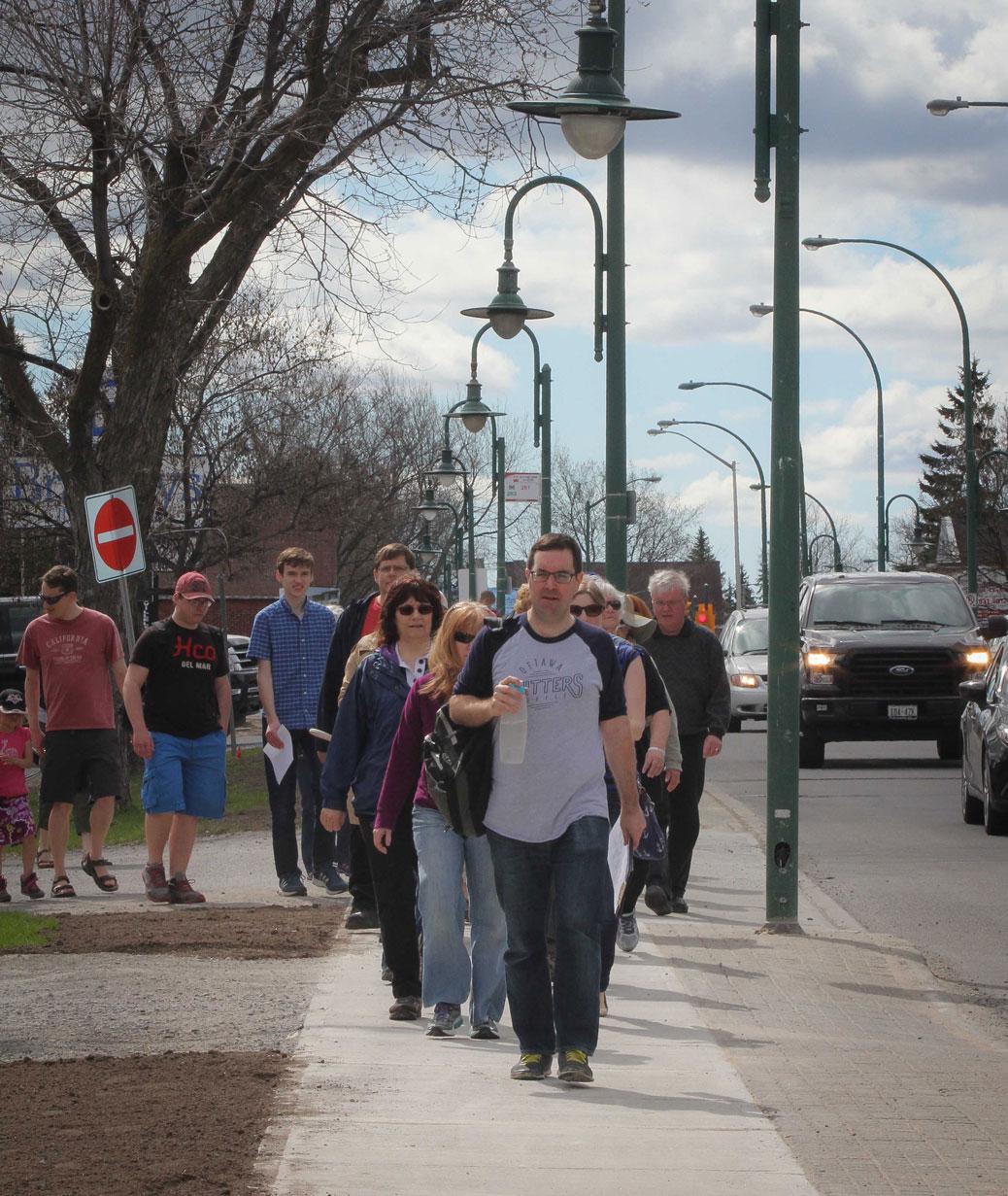 Jane's Walk 2016 on Stittsville Main Street. Photo by Barry Gray.