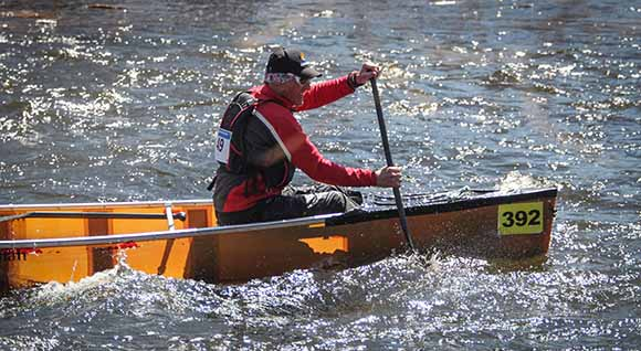 RICHMOND, ON. April 9, 2016. Paddling down river at the Jock River Race. Barry Gray (StittsvilleCentral.
