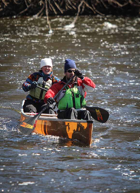 RICHMOND, ON. April 9, 2016. First paddlers down the Jock River. Barry Gray (StittsvilleCentral)