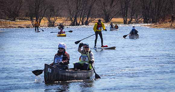 RICHMOND, ON. April 9, 2016. Approaching the finish line at the Jock River Race. Barry Gray (StittsvilleCentral)