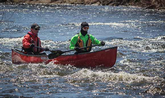 Nearing the finish on the Jock River. Barry Gray (StittsvilleCentral)
