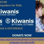 Kanata-Stittsville Kiwanis step up with computers for kids through KC4K campaign