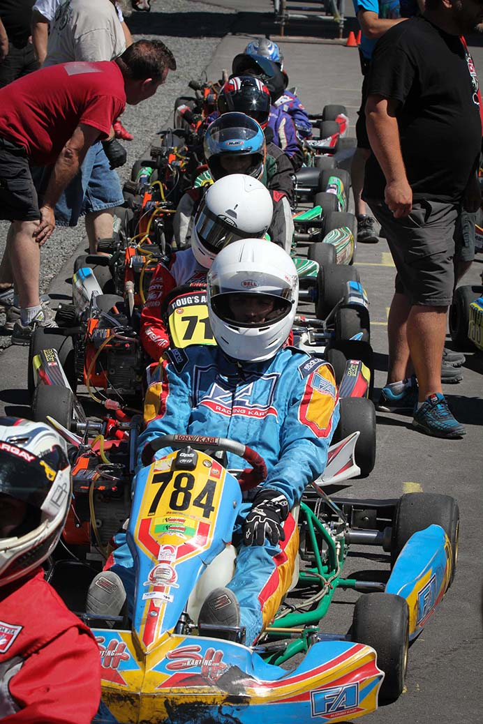 STITTSVILLE, ON. August 7, 2016. Karter's Korners. On the grid getting ready to race. Barry Gray (StittsvilleCentral).