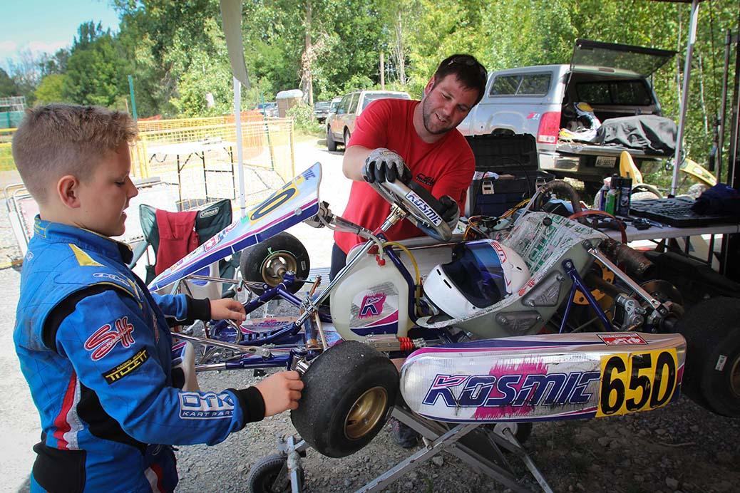 STITTSVILLE, ON. August 7, 2016. Karter's Korners. Junior racer Gabriel Savoie preps his kart for the next race. Barry Gray (StittsvilleCentral).