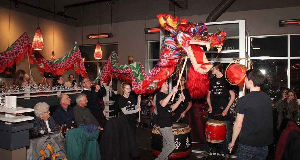 STITTSVILLE, ON, Febraury 8, 2016 KungFu Bistro celebrate the Chinese New Year with the dragon dance. Barry Gray (For StittsvilleCentral).