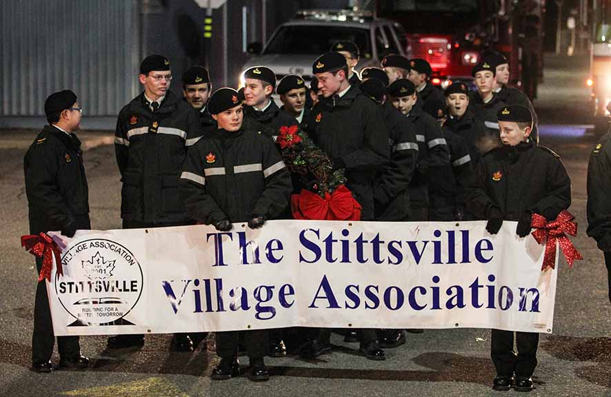 STITTSVILLE, ON. November 28. 2015. Cadets lead off the Parade of Lights. Barry Gray (For StittsvilleCentral).