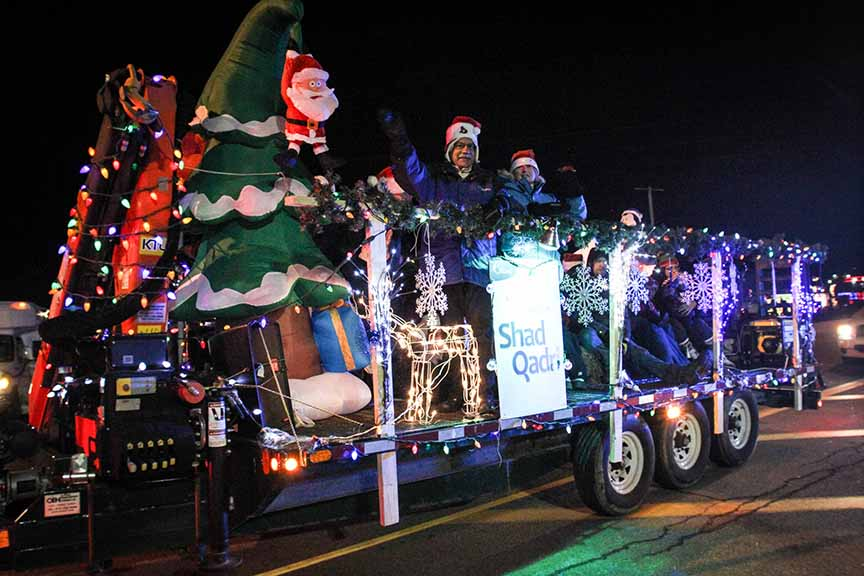 STITTSVILLE, ON. November 28. 2015. Shad Qadri on his float at the Parade of Lights. Barry Gray (For StittsvilleCentral).