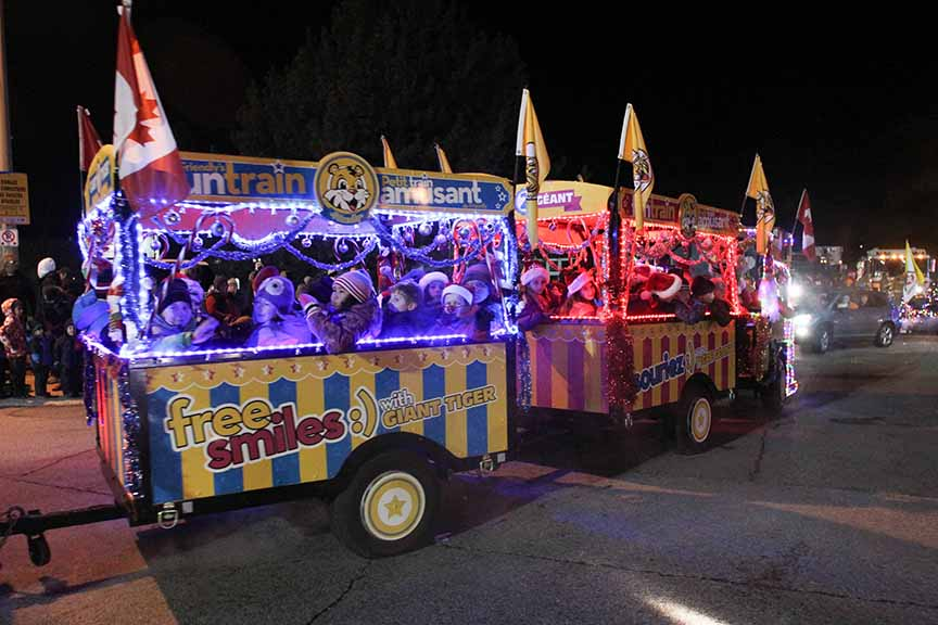 STITTSVILLE, ON. November 28. 2015. Giant Tiger float at the Parade of Lights. Barry Gray (For StittsvilleCentral).