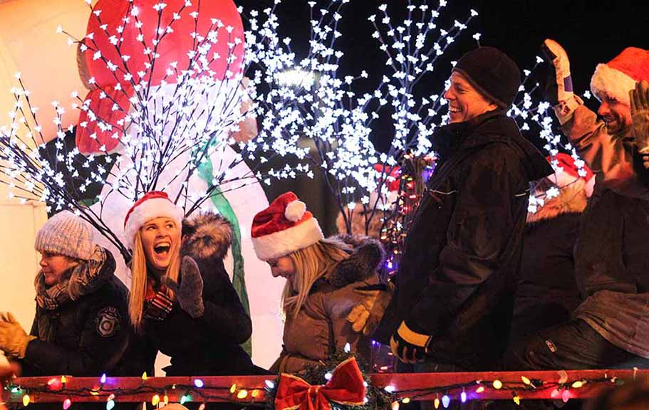 STITTSVILLE, ON. November 28. 2015. Lots of laughs on the Browns Float at the Parade of Lights. Barry Gray (For StittsvilleCentral).