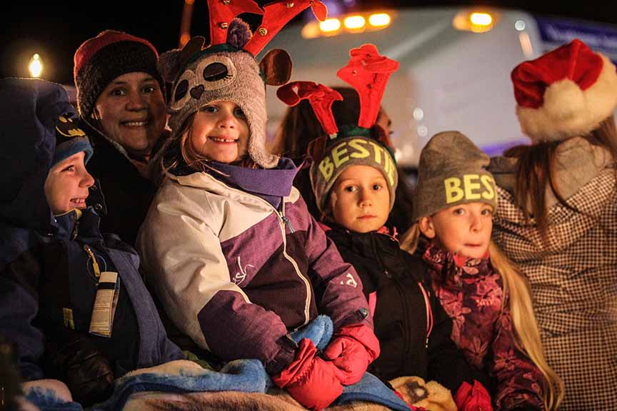 STITTSVILLE, ON. November 28. 2015. Lots of smiling faces on the floats at the Parade of Lights. Barry Gray (For StittsvilleCentral).