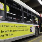 20 OC Transpo buses on stand-by to supplement the Confederation Line