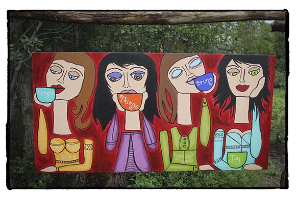 PAZAB FAMILY FARM, August 3, 2015.  Art work at the farm.   Barry Gray (For StittsvilleCentral.com)