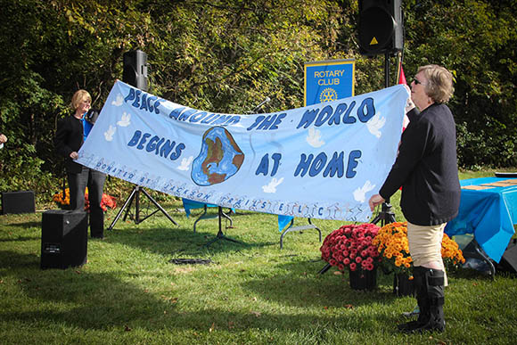 STITTSVILLE, ON, October 8, 2015. W. J. Bell Rotary Peace Park. Unveiling of the banner.     Barry Gray (StittsvilleCentral)