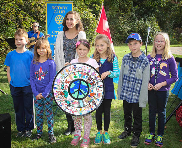 STITTSVILLE, ON, October 8, 2015. W. J. Bell Rotary Peace Park.  Children who's art work was included in the Park.    Barry Gray (StittsvilleCentral)