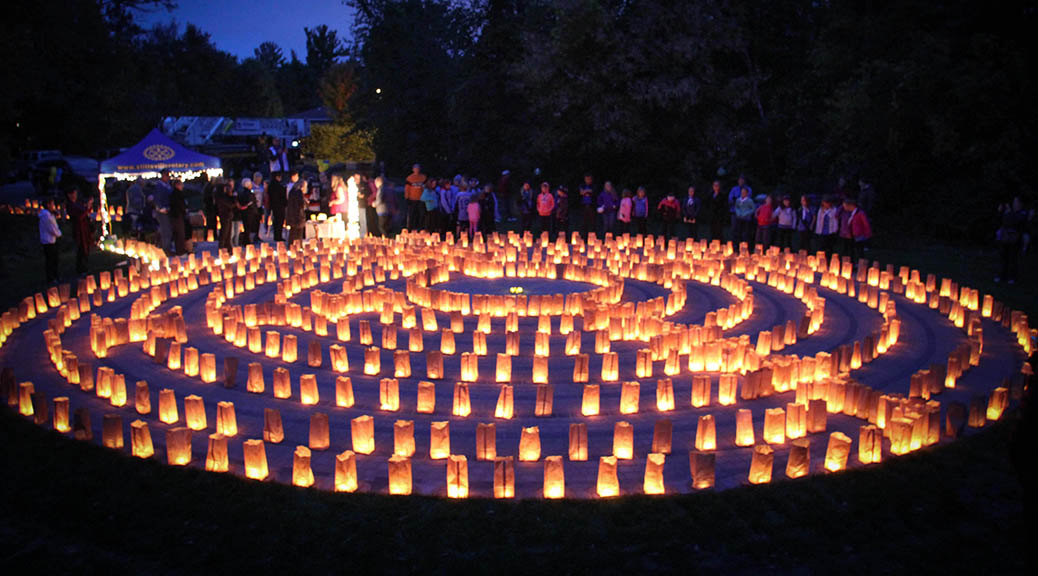 STITTSVILLE, ON, October 8, 2015. W. J. Bell Rotary Peace Park. The labyrinth lit with candles. Barry Gray (StittsvilleCentral)