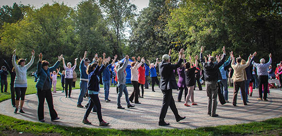 STITTSVILLE, ON, October 8, 2015. W. J. Bell Rotary Peace Park. The opening movement mandela. Barry Gray (StittsvilleCentral)