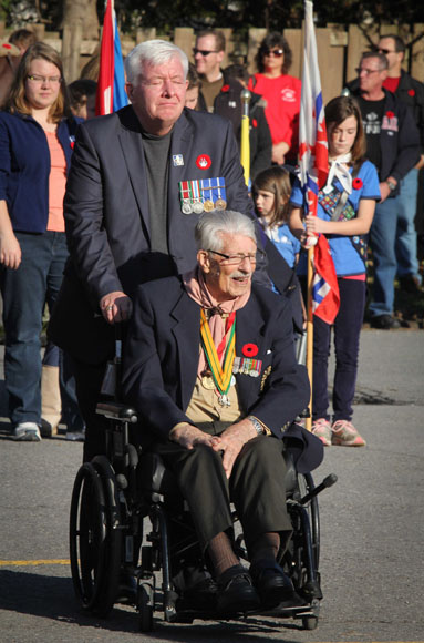 Veterans at the Remembrance Day ceremonial service. Photo by Barry Gray