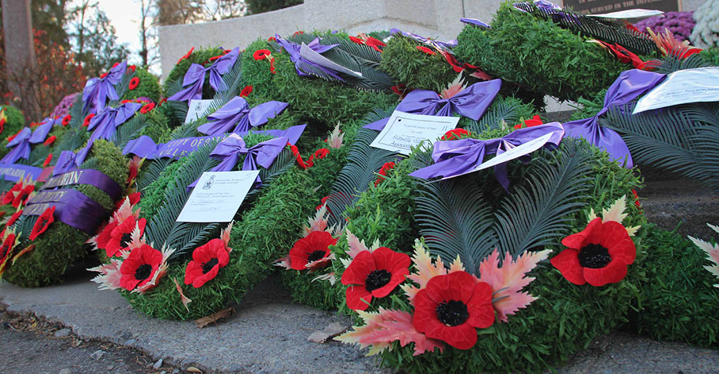 STITTSVILLE, ON. Nov.11 2016. Wreaths placed at the Cenotaph. Barry Gray (StittsviilleCentral)