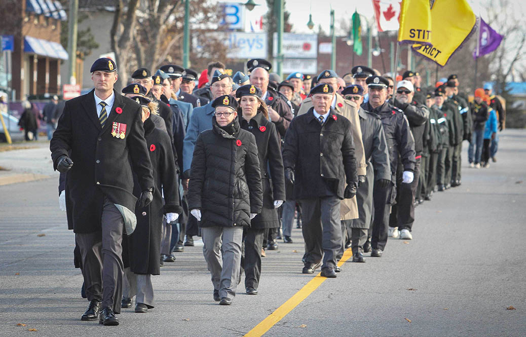 STITTSVILLE, ON. Nov.11 2016. Veterans march down Stittsville's Main Street. Barry Gray (StittsviilleCentral)