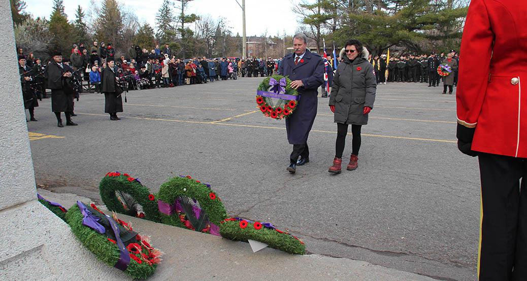STITTSVILLE, ON. Nov.11 2016. MPP Jack McLaren places the wreath for the Province of Ontario. Barry Gray (StittsviilleCentral)