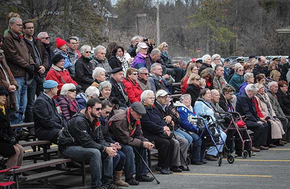 STITTSVILLE, ON. November 11, 2015. Residents watching during the ceremonies. (Barry Gray/ StittsvilleCentral)