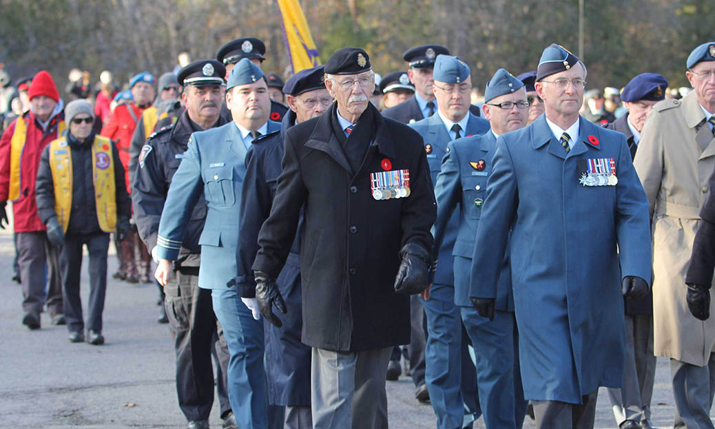 STITTSVILLE, ON. Nov.11 2016. Veterans on parade. Barry Gray (StittsviilleCentral)