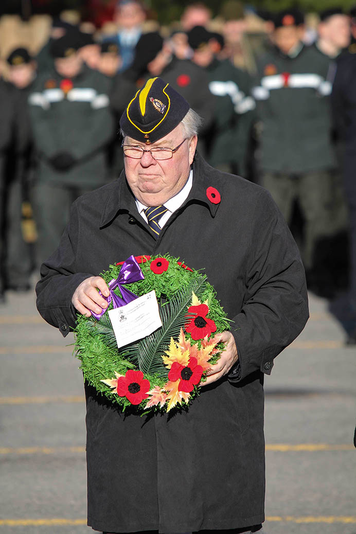 STITTSVILLE, ON. Nov.11 2016. Legion member John Brummell places a wreath. Barry Gray (StittsviilleCentral)