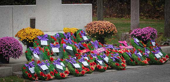 STITTSVILLE, ON. November 11 2015. Wreaths at the Cenetoph. (Barry Gray / StittsvilleCentral)