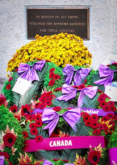 STITTSVILLE, ON. November 11 2015. Wreaths placed at the Cenetoph. (Barry Gray / StittsvilleCentral)