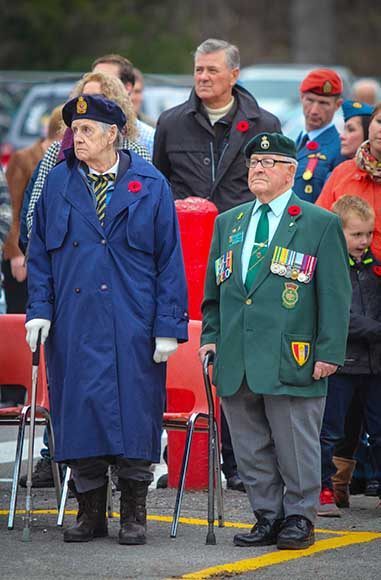 STITTSVILLE, ON. November 11, 2015. Vetrans standing as Last Post is played. (Barry Gray/ StittsvilleCentral)
