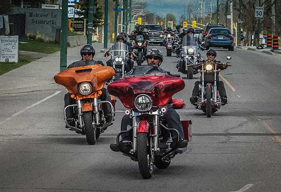STITTSVILLE, ON. May 7. 2016  Over 300 bikes participated in the 150km Charity Ride for Disabled Veterans in support of Wounded Warriors. They began the ride at Brown's Independant.   Barry Gray (StittsvilleCentral)