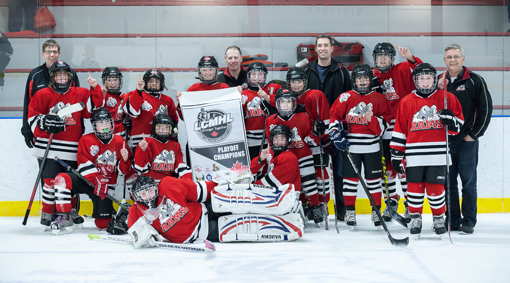 Stittsville Razorbacks Peewee C1 are League and Playoff champions. Photo by Stephanie J. Robertson