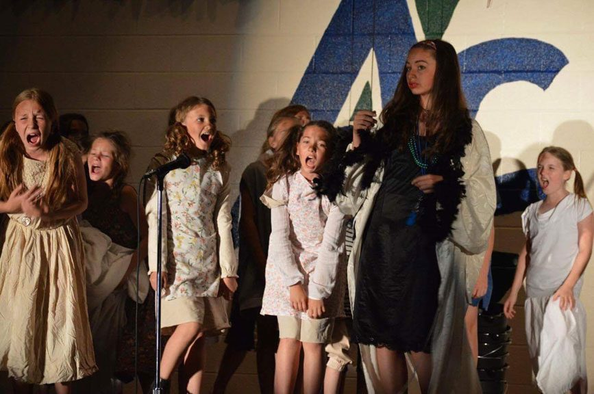 A scene from A. Lorne Cassidy's recent production of the musical Annie.