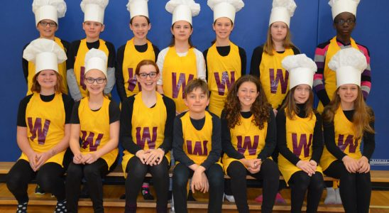 Performers from Willy Wonka at A. Lorne Cassidy. Photo by Teshia Llewellyn
