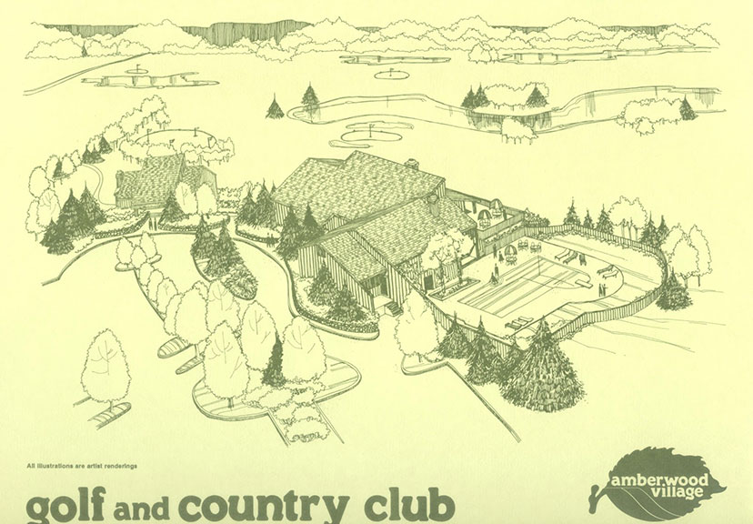 Amberwood Village Golf and Country Club marketing material from the late 1970s