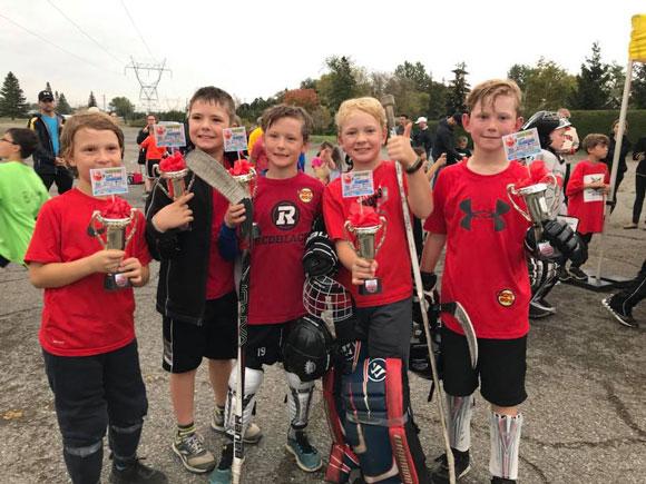 3-on-3 ball hockey tournament