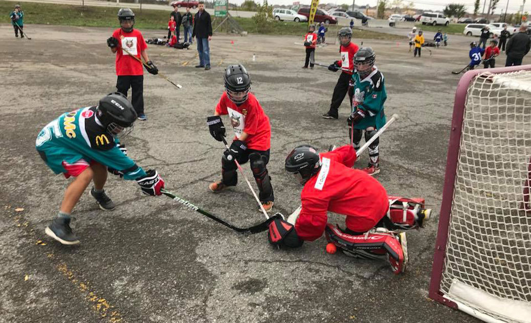 3-on-3 ball hockey tournament