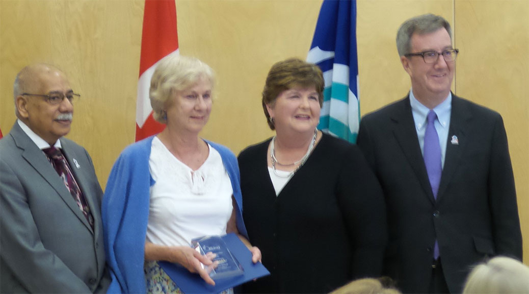 Barbara Bottriell receives the Roger Griffiths Memorial Award for Citizen of the Year