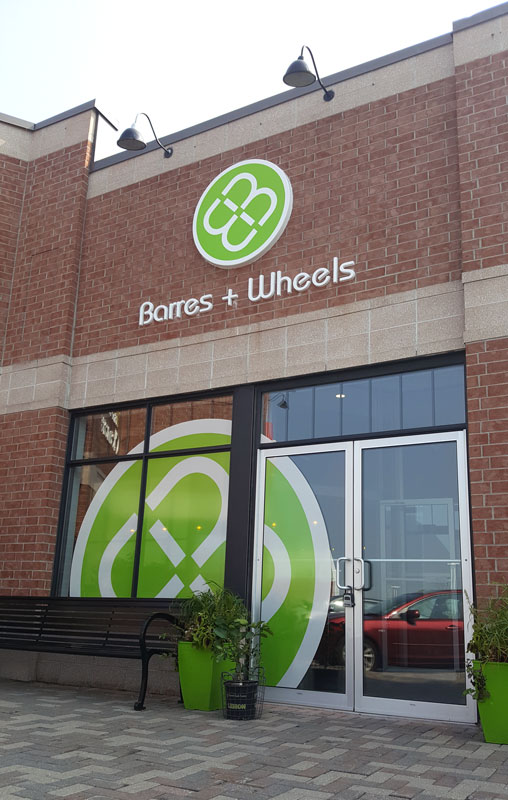 Front entrance of Barres & Wheels