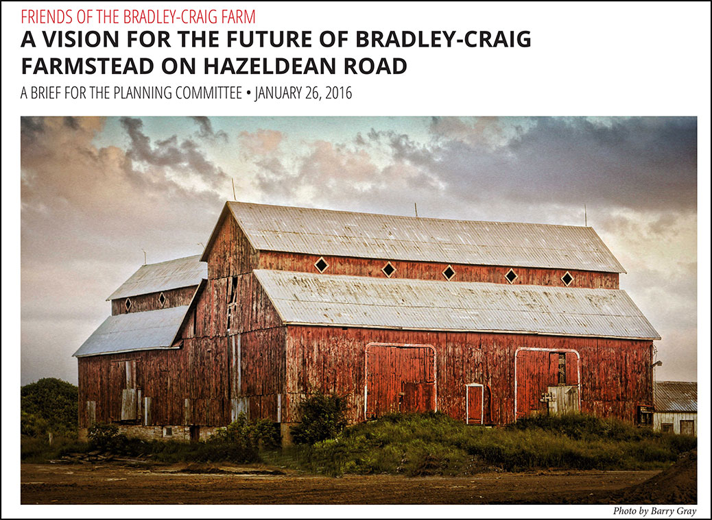 Friends of the Bradley-Craig Farm brief to Planning Committee (cover)