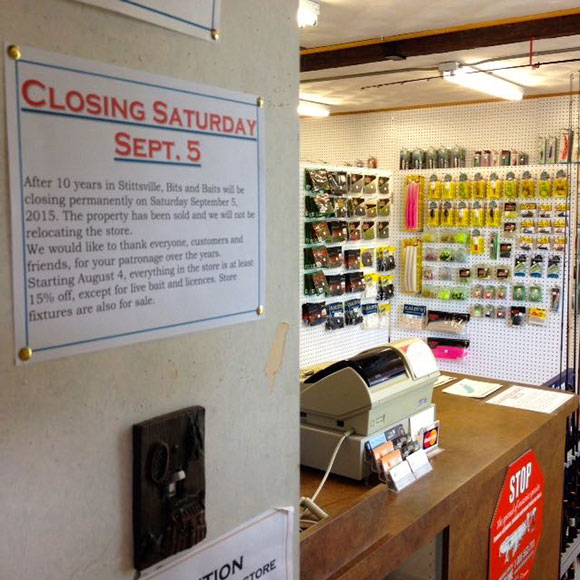 There's a closing sale at the Bits and Baits store until September 5.