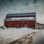 PHOTO: Bradley-Craig barn before the snow melt