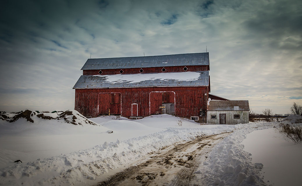 "Barry Gray photo: ""One last barn photo before the snow melts."""