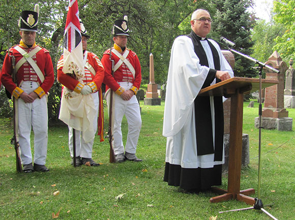 The Reverend Canon Roger Young, a Bradley descendent, gave a sermon at the event. Photo by Karen Prytula