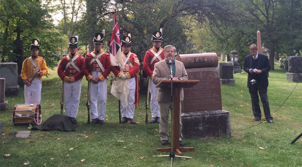 Kurt Johnson, a local military historian, was the master of ceremonies at the event. Photo by Laura Young.