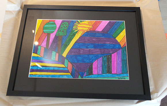 Brianna Richard was the winner of our very first Young Artist of the Month contest. Her work was professionally framed by Walkerworks Picture Framing.