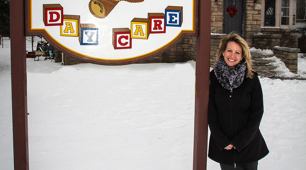 Tamara Brown in front of Brown Bear Day Care's facility on Stittsville Main Street. Photo by Barry Gray.