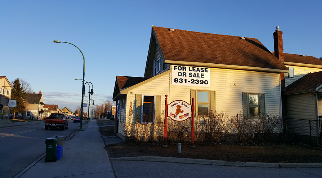 Brown Bear building on Stittsville Main Street is for sale or lease.